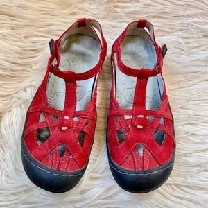 Jambu Red T-Strap Mary Jane Sandals Sz 7